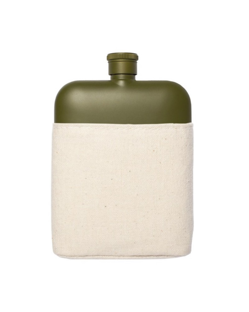 Army 6 Oz Flask with Canvas Carrier
