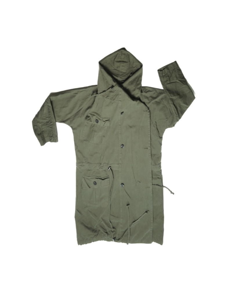 Callie Hooded Cocoon Army Jacket