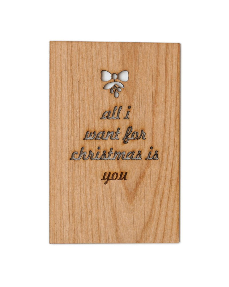 All I Want  for Christmas Wooden Card