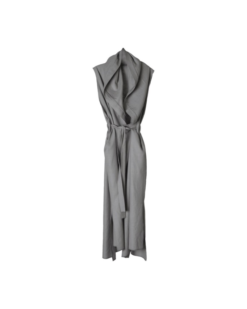 Sleeveless Robe Grey