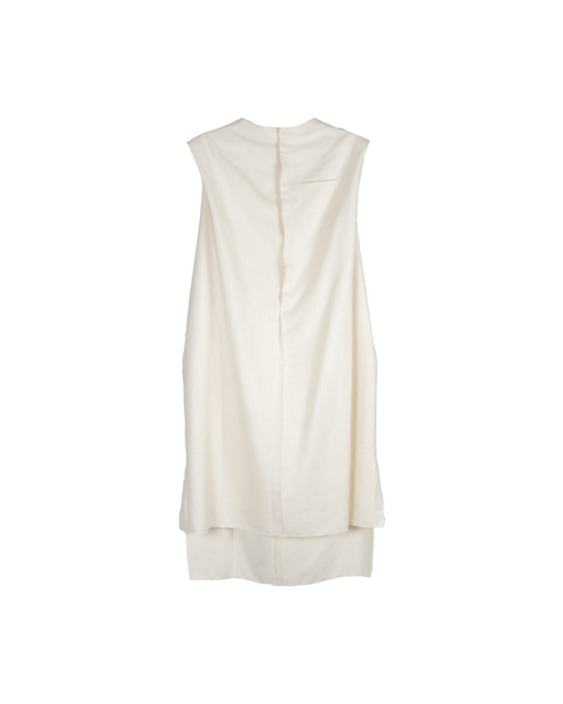 Jallabiya Sleeveless White
