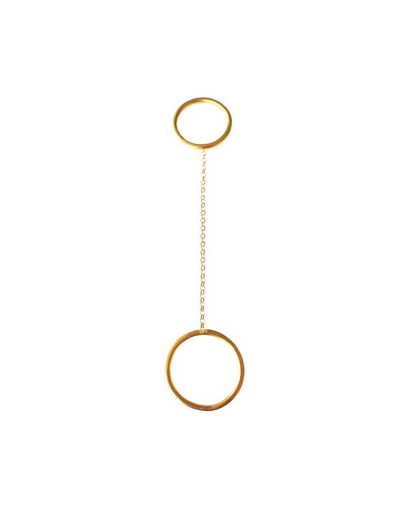 Chain of Balance Ring Gold With Chain