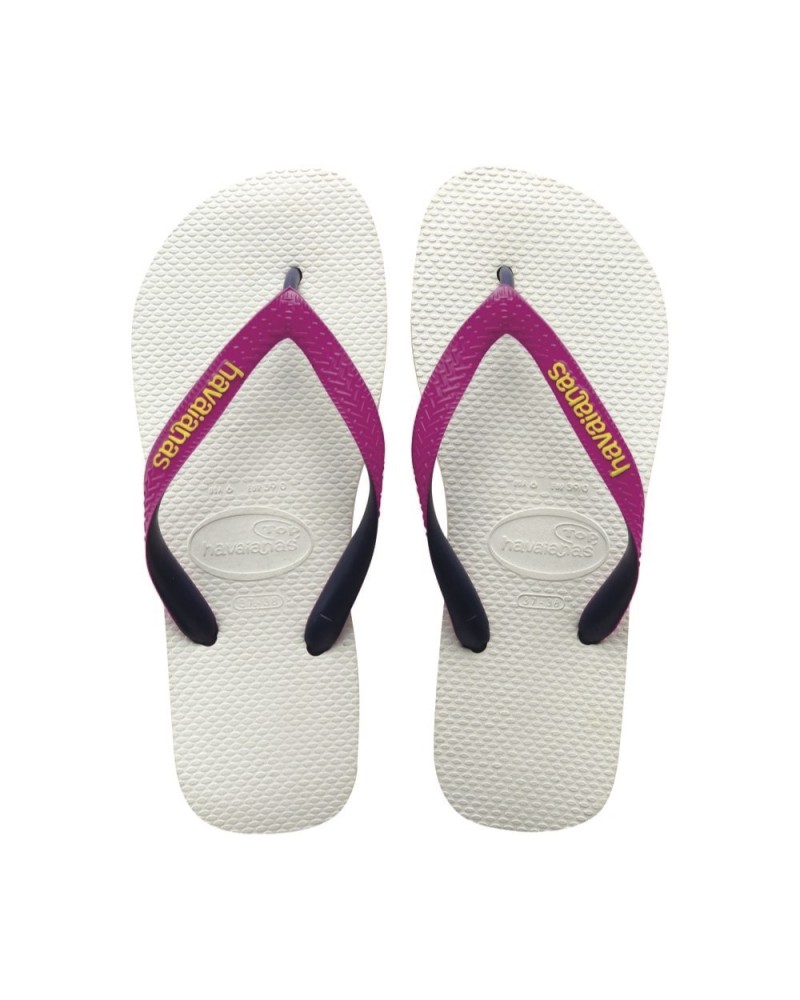 43a30ef1aa7b07 Top Flip Flops Mix White Pink - Shoes