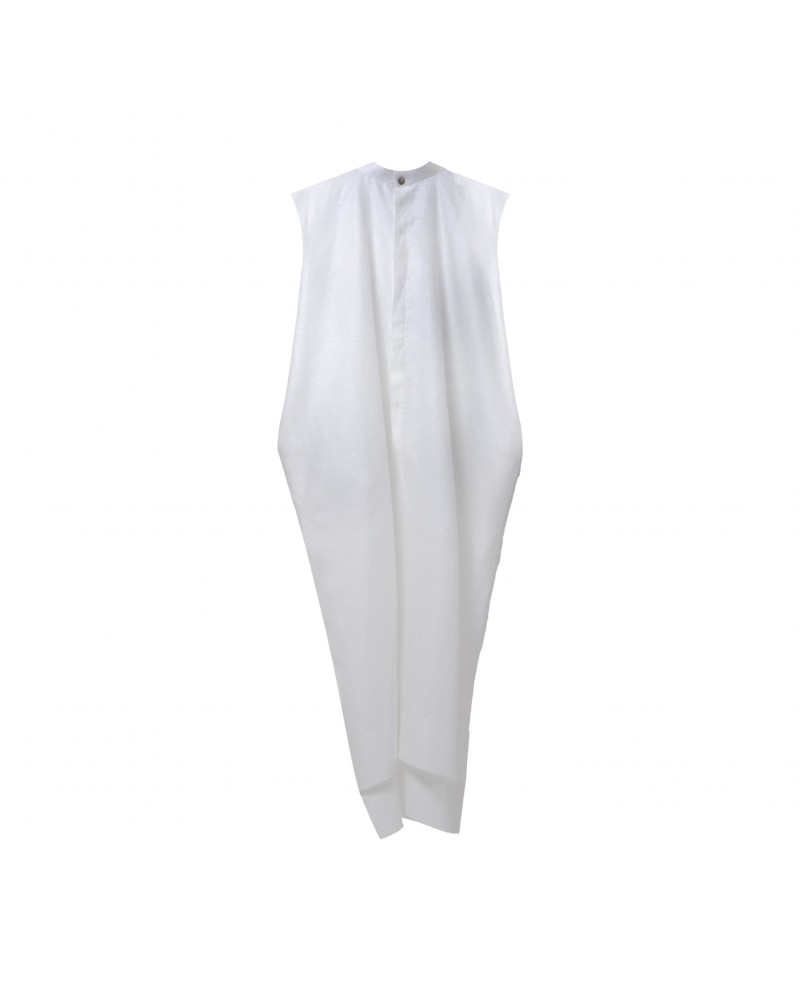 Dishdasha Sleeveless Off White