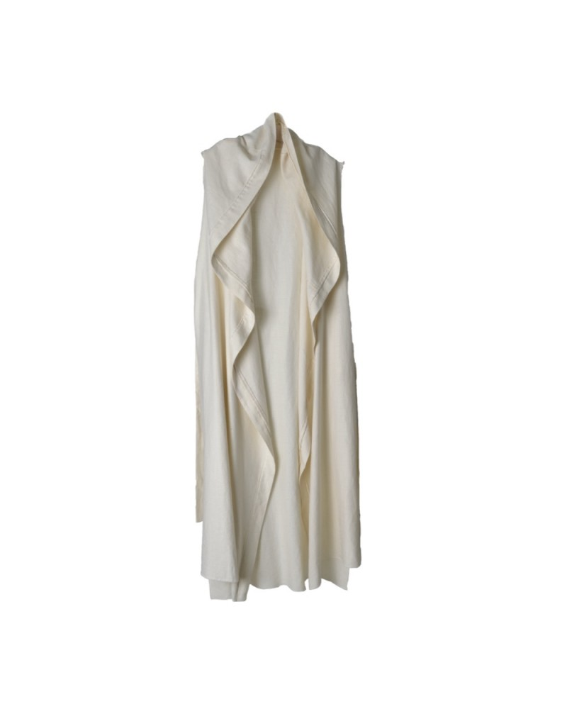 Sleeveless Robe White