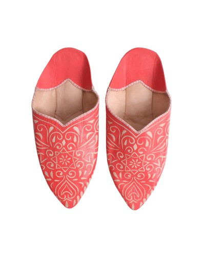 Decorative Babouche Slipper Coral