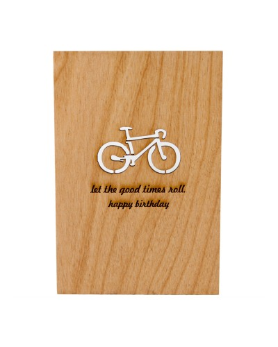 Let The Good Times Roll Wooden Card