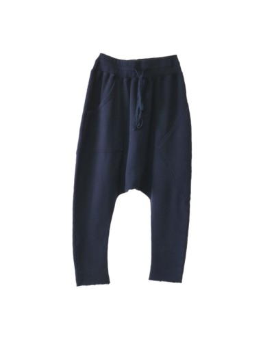 French Terry Peg Moses Pants Navy