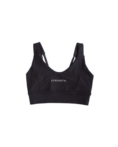 The Grace Sports Bra Strength Black Sand