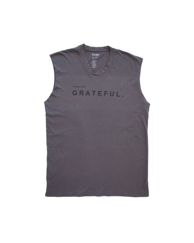 The Venice Muscle Tank Everyday Grateful Charcoal