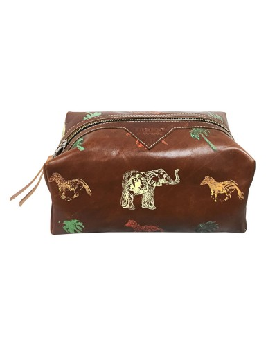 Safari Motif Large Dopp Kit