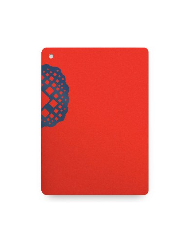 Blue on Red Wraparound Notebook