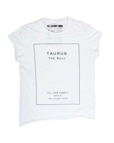 Taurus Label Rolling Tee White